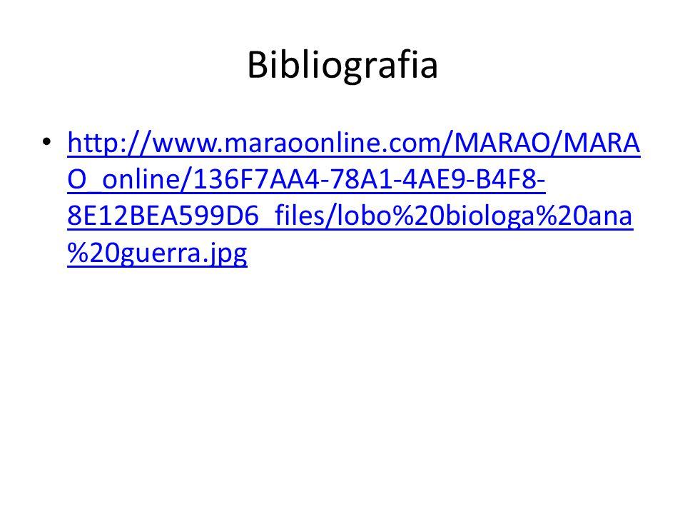Bibliografia http://www.maraoonline.com/MARAO/MARA O_online/136F7AA4-78A1-4AE9-B4F8- 8E12BEA599D6_files/lobo%20biologa%20ana %20guerra.jpg http://www.