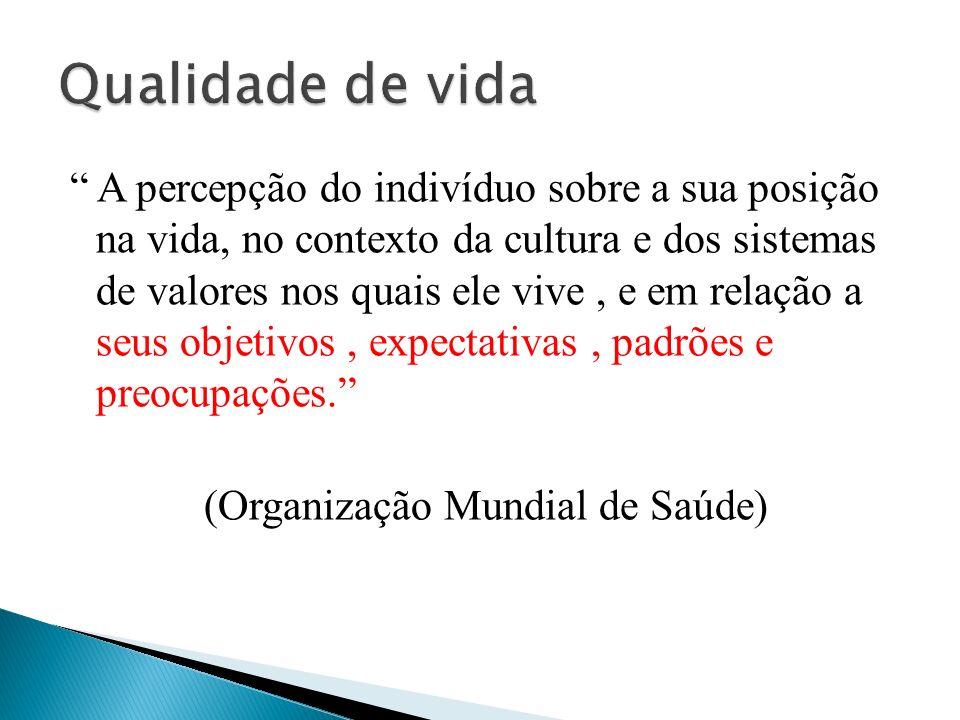 A percepção do indivíduo sobre a sua posição na vida, no contexto da cultura e dos sistemas de valores nos quais ele vive, e em relação a seus objetiv