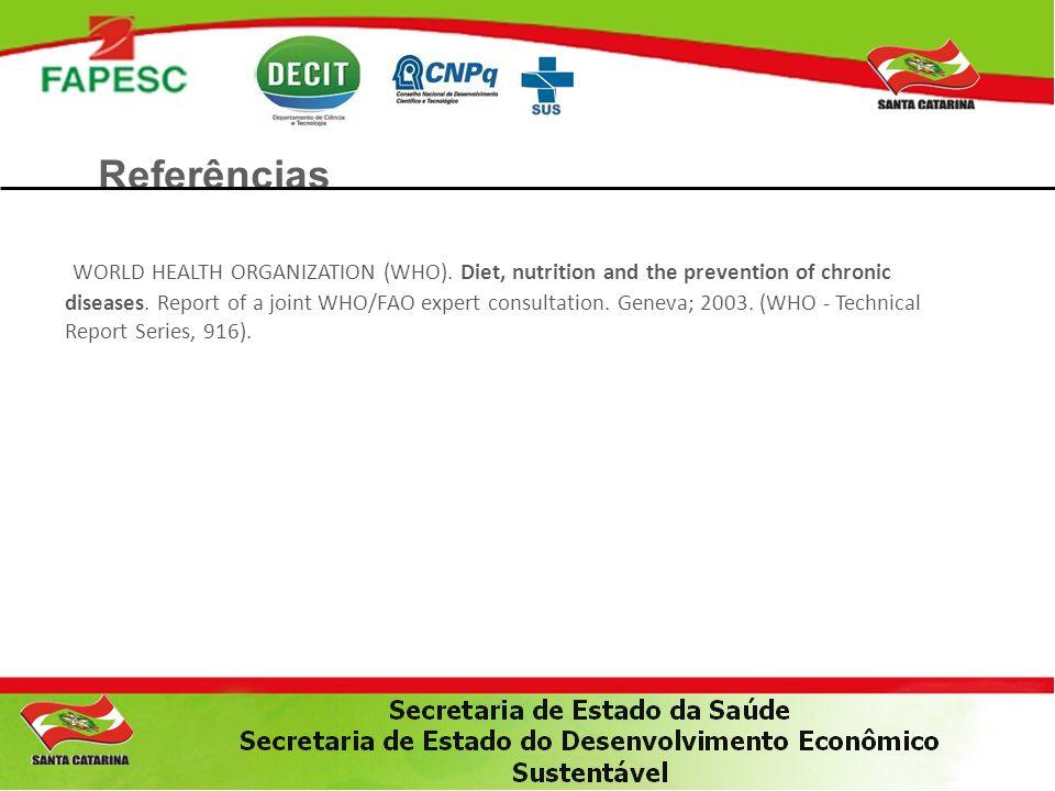 Referências WORLD HEALTH ORGANIZATION (WHO).