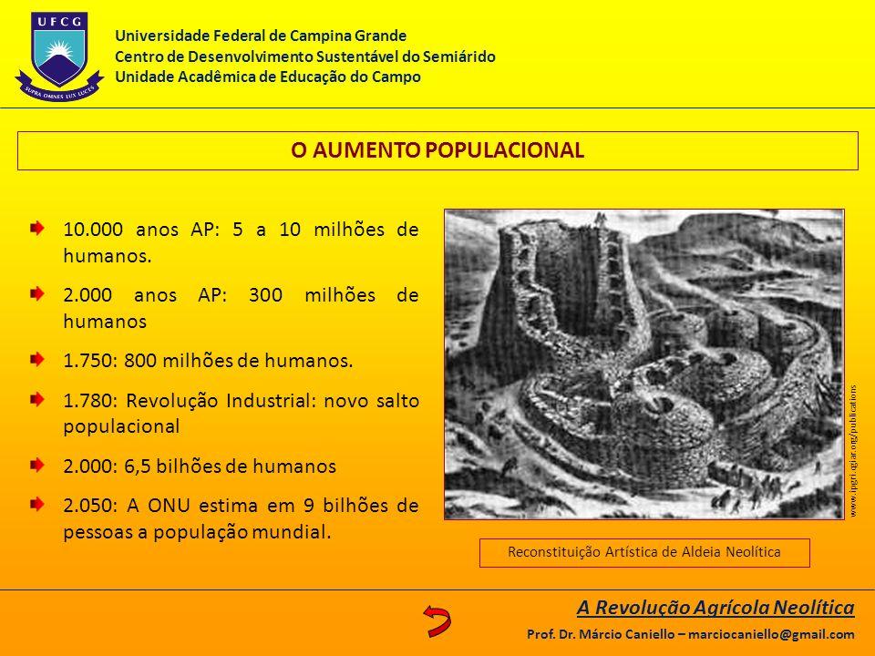 O AUMENTO POPULACIONAL 10.000 anos AP: 5 a 10 milhões de humanos. 2.000 anos AP: 300 milhões de humanos 1.750: 800 milhões de humanos. 1.780: Revoluçã