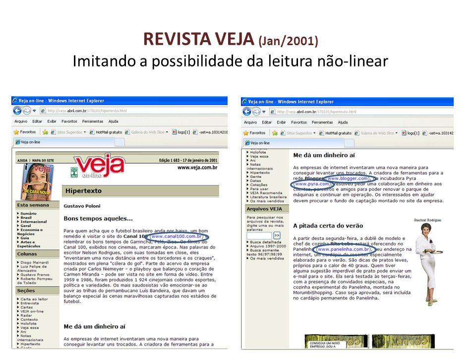 REVISTA VEJA (Jan/2001) Imitando a possibilidade da leitura não-linear