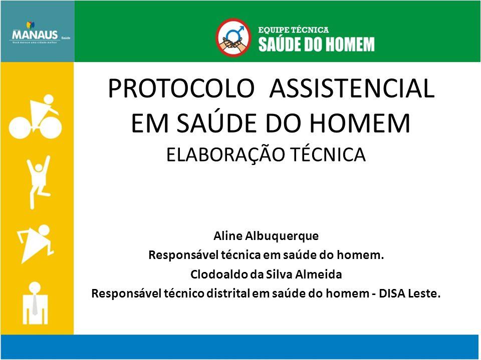 APRESENTAÇÃO A coordenação do Programa Saúde do Homem do Município de Manaus Amazonas apresenta o Protocolo Assistencial de Enfermagem na Atenção integral a saúde do homem, respondendo à demanda institucional de respaldar e subsidiar a prática assistencial destes profissionais.