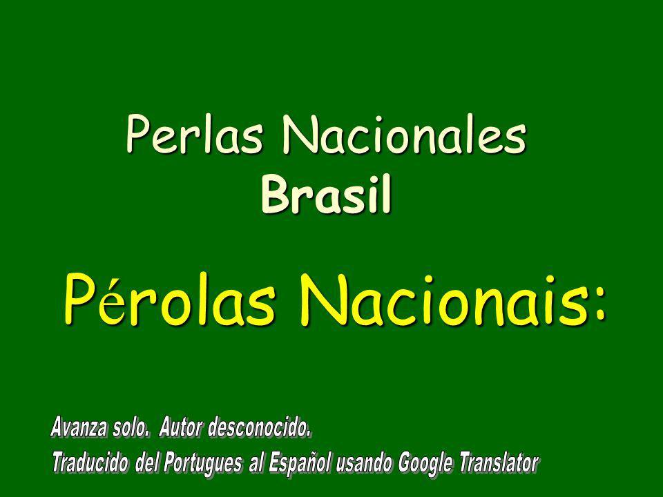 P é rolas Nacionais: Perlas Nacionales Brasil