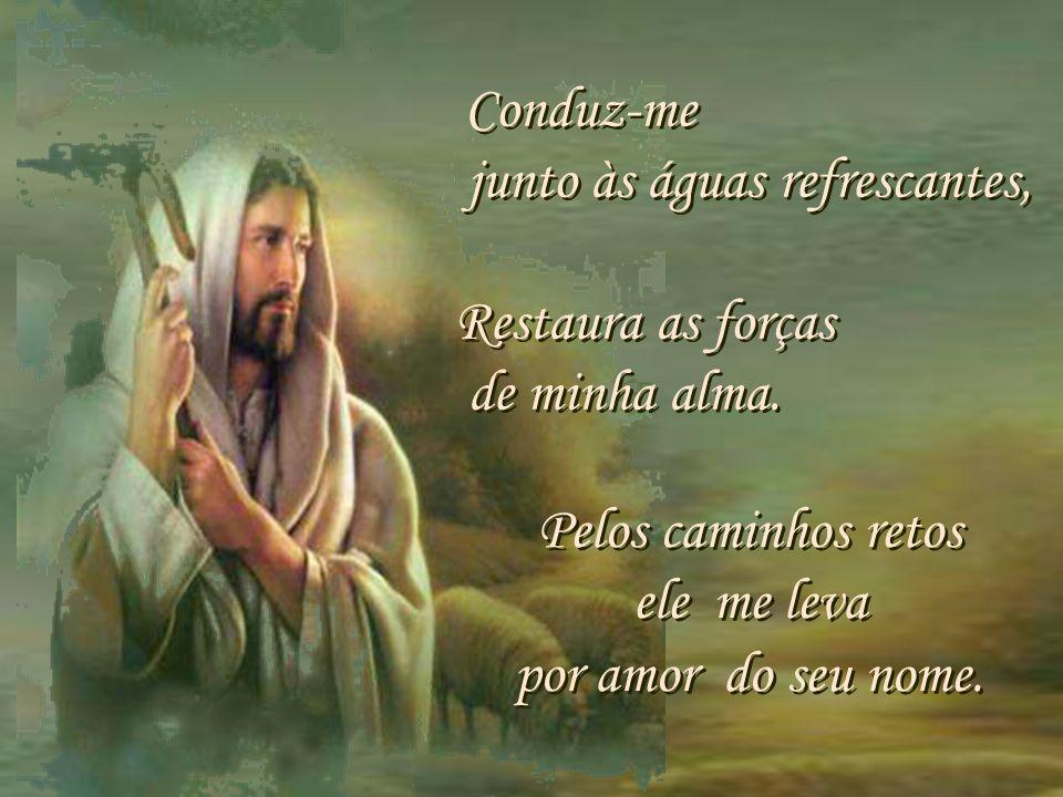O Senhor é meu pastor Nada me faltará em verdes prados Ele me faz repousar. O Senhor é meu pastor Nada me faltará em verdes prados Ele me faz repousar