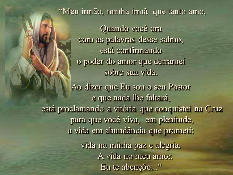 Quem sabe, se proclamarmos esse Salmo do profundo do nosso coração, ouviremos o Senhor nos responder.... Quem sabe, se proclamarmos esse Salmo do prof