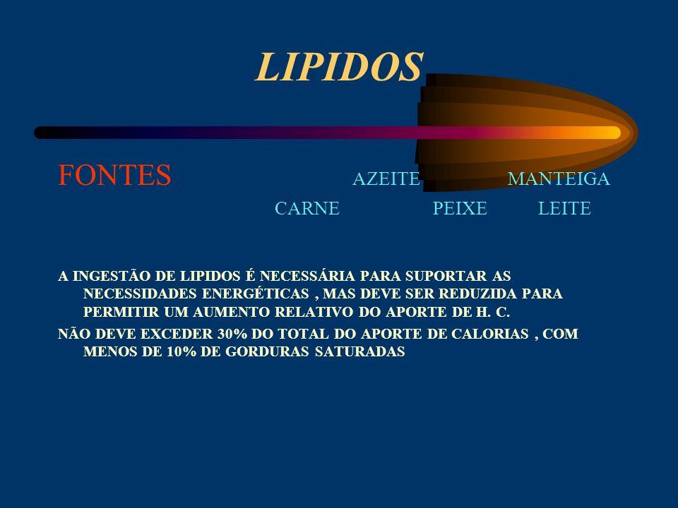 H. de CARBONO FONTES BATATAS AÇUCARES CEREAIS FRUTA PÃO ARROZ MASSAS 1.OS H. C. SIMPLES (açucares ) SÃO MAIS FÁCILMENTE DIGERIDOS QUE OS COMPLEXOS (am