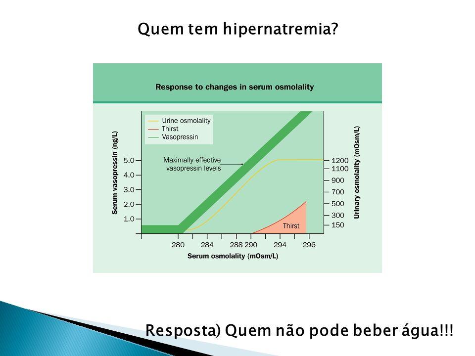 Se Uosm é baixa DI (nefrogênico ou central) Hipernatremia – Uosm baixa