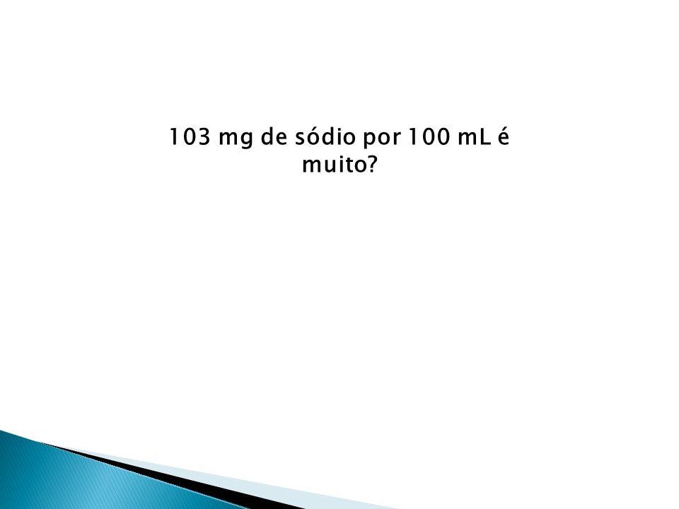 103 mg de sódio por 100 mL é muito?