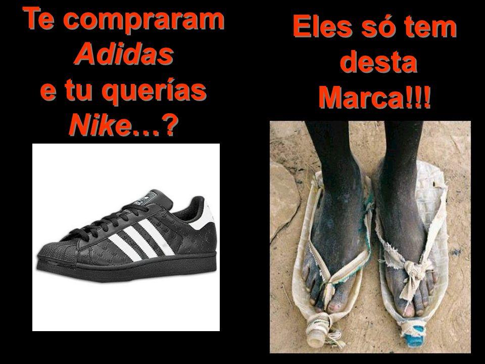 Te compraram Adidas e tu querías Nike…? Eles só tem desta Marca!!!