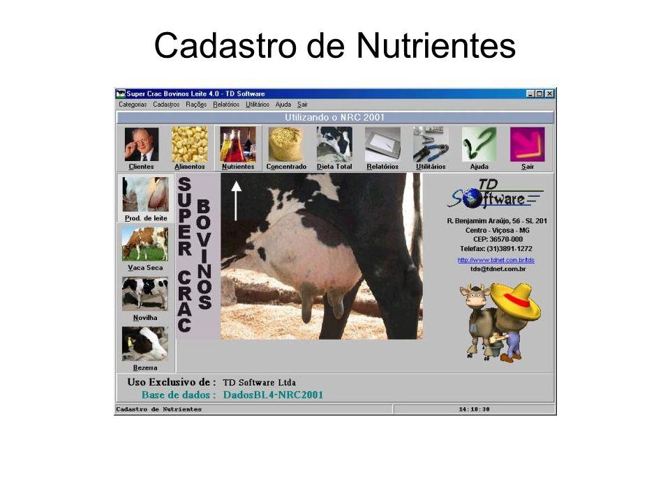 Cadastro de Nutrientes