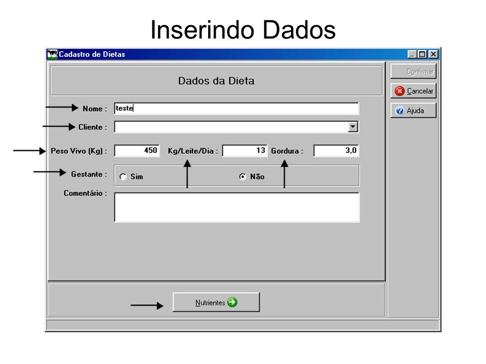 Inserindo Dados