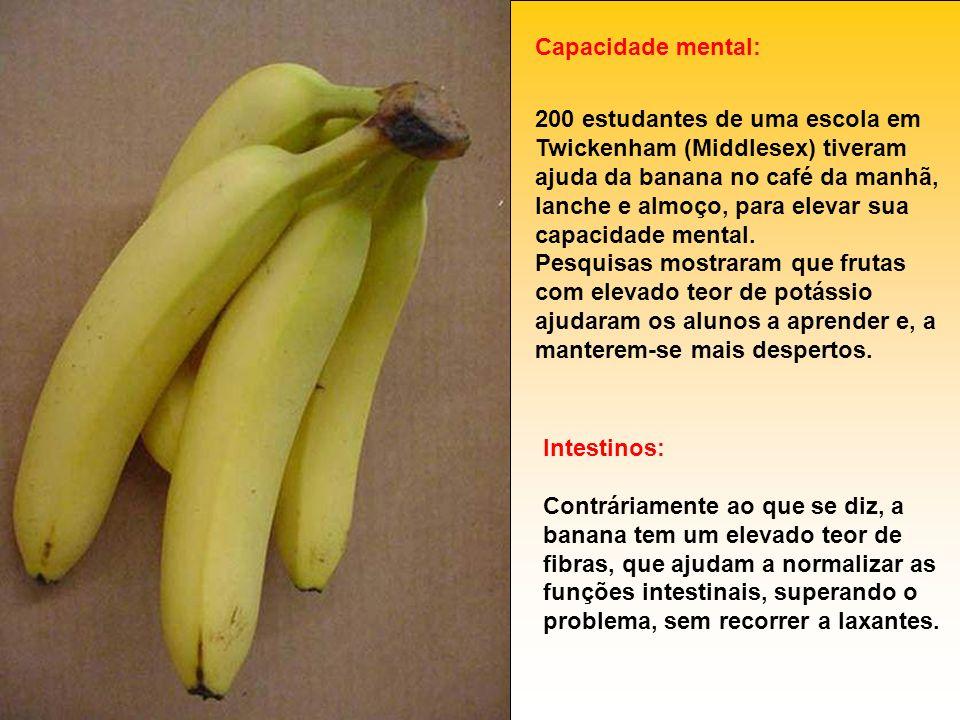 Capacidade mental: 200 estudantes de uma escola em Twickenham (Middlesex) tiveram ajuda da banana no café da manhã, lanche e almoço, para elevar sua c