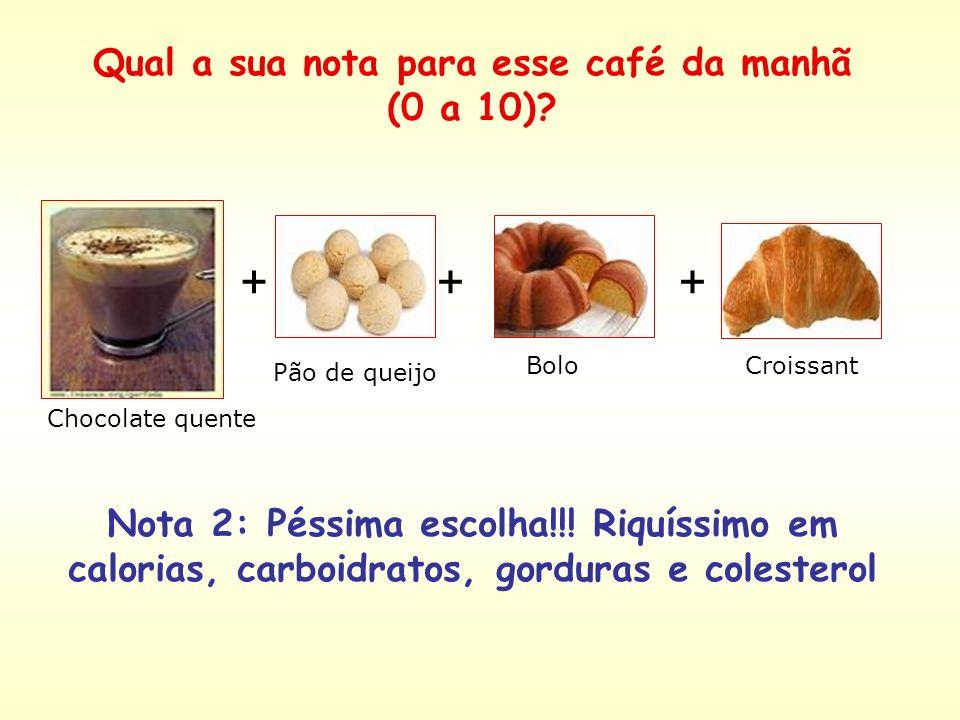 Chá TorradaQueijo branco + + Nota 7: café da manhã com poucas calorias, mas pobre em fibras, vitaminas e minerais. Qual a sua nota para esse café da m