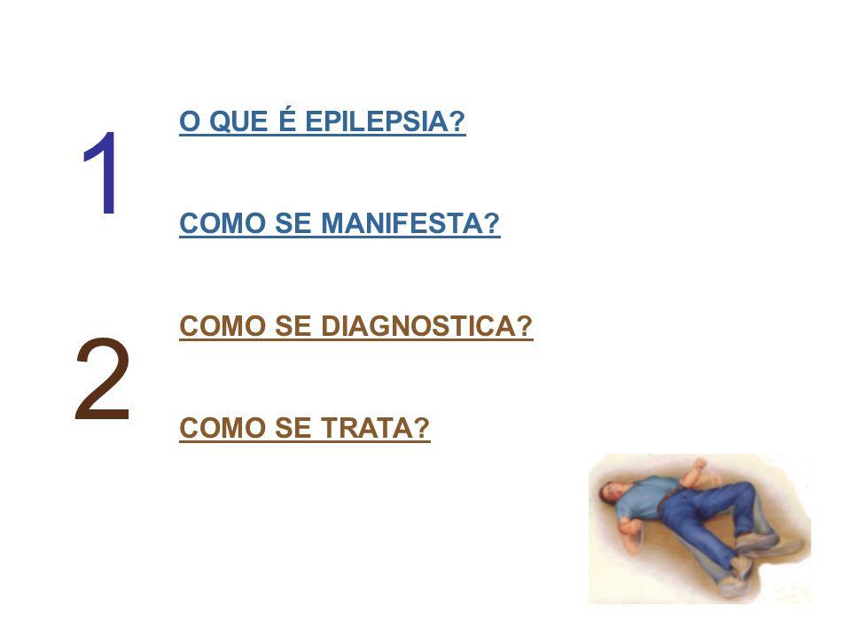 O QUE É EPILEPSIA? COMO SE MANIFESTA? COMO SE DIAGNOSTICA? COMO SE TRATA? 1 2