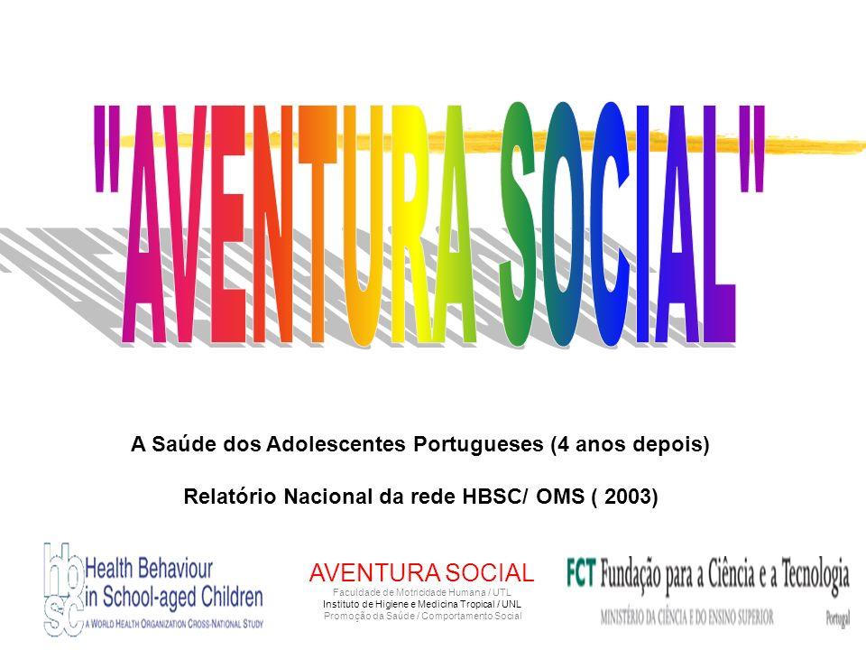 Margarida Gaspar de Matos* e Equipa Aventura Social & Saúde *Psicologa, Prof Ass F M H / UTL Coordenadora Nacional do HBSC/OMS ADOLESCENTES PORTUGUESE