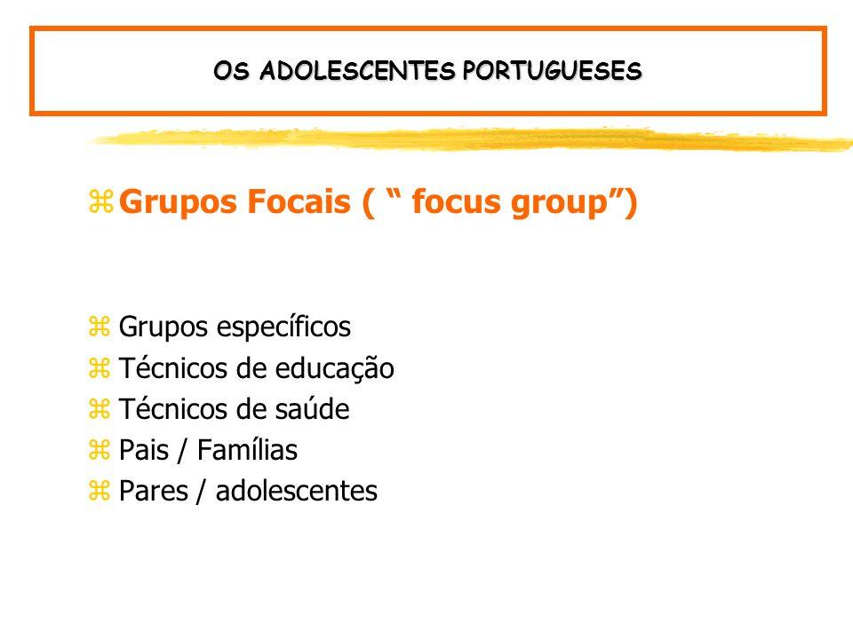 zMedidas integradas: OS ADOLESCENTES PORTUGUESES