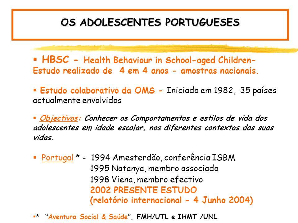 ADOLESCENTES PORTUGUESES ADOLESCENTES PORTUGUESES: HÁBITOS ALIMENTARES E SAÚDE Conhecer hábitos alimentares Promover alimentação saudável Prevenir obe