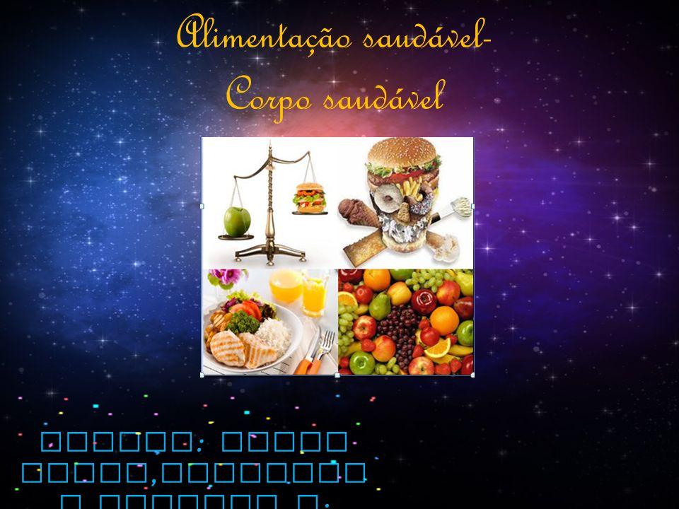 Alunas : Maria Paula, Andressa e Eduarda S. Alimentação saudável- Corpo saudável
