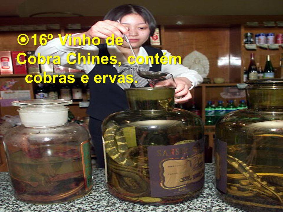 16º Vinho de 16º Vinho de Cobra Chines, contém cobras e ervas.