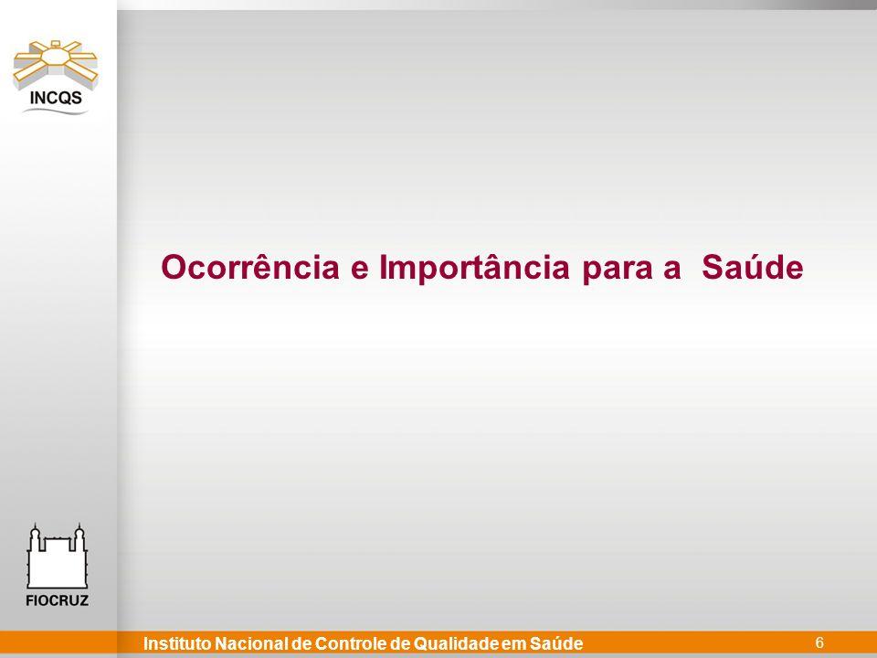 Instituto Nacional de Controle de Qualidade em Saúde 6 Ocorrência e Importância para a Saúde