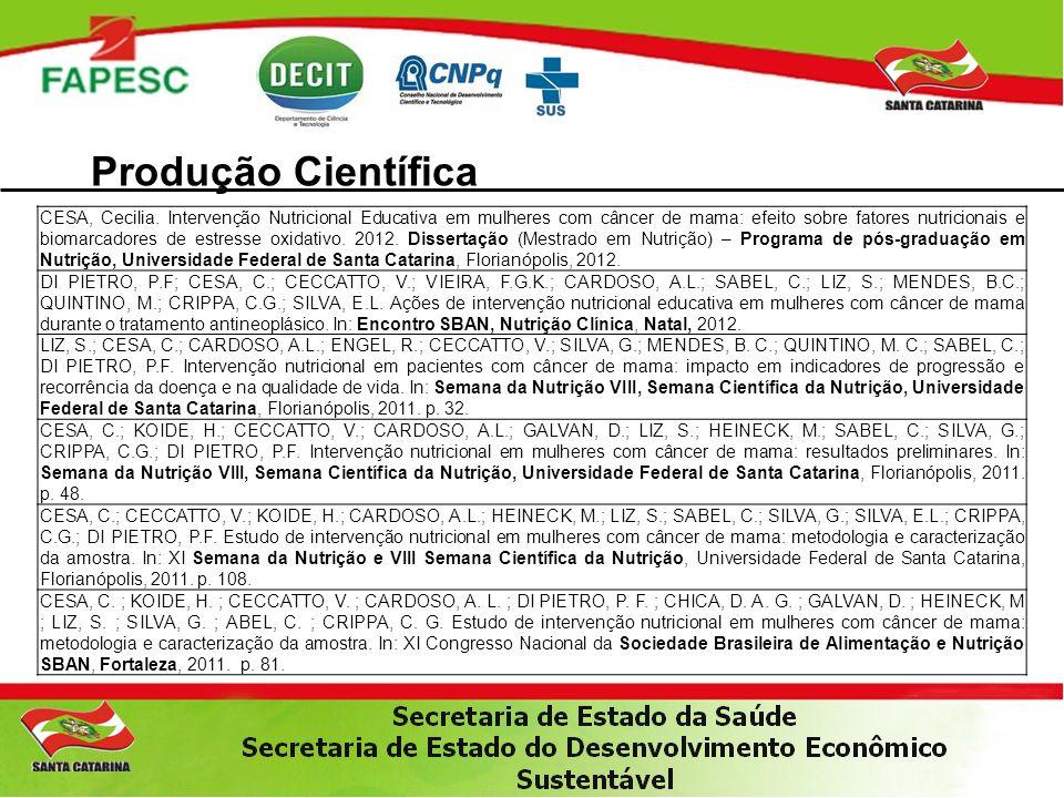 Produção Científica CESA, Cecilia.