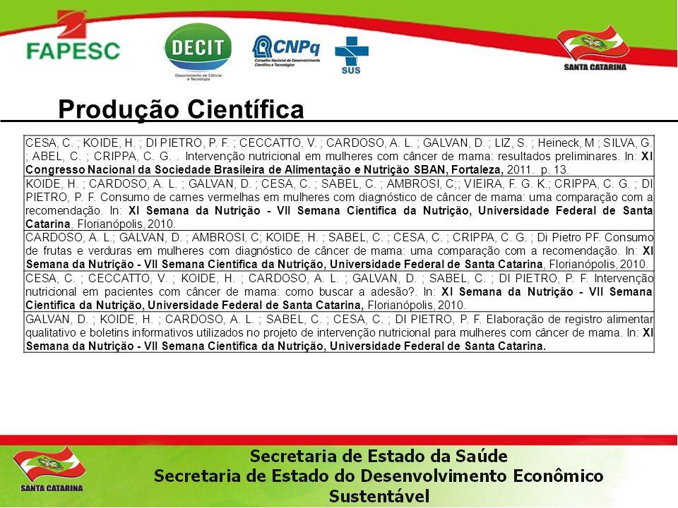 Produção Científica CESA, C.; KOIDE, H. ; DI PIETRO, P.