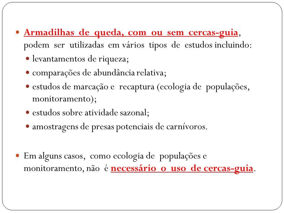 Estudo realizado na região de Santa Maria, RS, em área coberta por mata e campo (pastos).