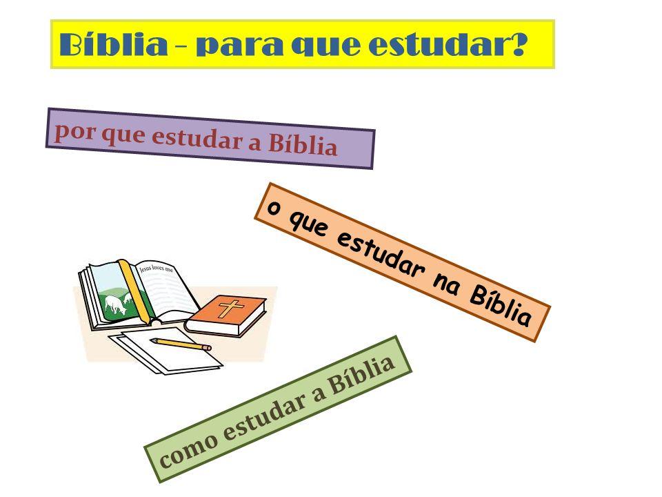 o que estudar na Bíblia Bíblia - para que estudar? por que estudar a Bíblia como estudar a Bíblia