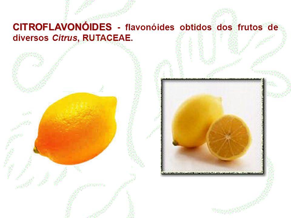 CITROFLAVONÓIDES CITROFLAVONÓIDES - flavonóides obtidos dos frutos de diversos Citrus, RUTACEAE.