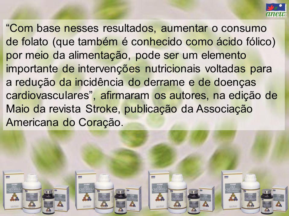 Com base nesses resultados, aumentar o consumo de folato (que também é conhecido como ácido fólico) por meio da alimentação, pode ser um elemento impo