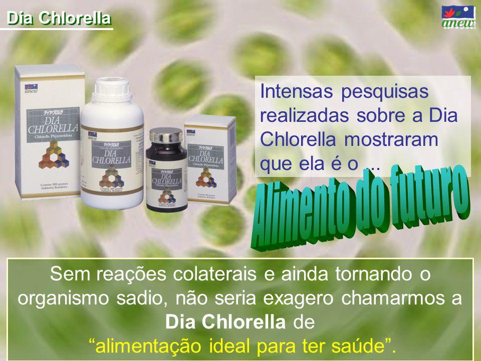 Dia Chlorella Sem reações colaterais e ainda tornando o organismo sadio, não seria exagero chamarmos a Dia Chlorella de alimentação ideal para ter saú