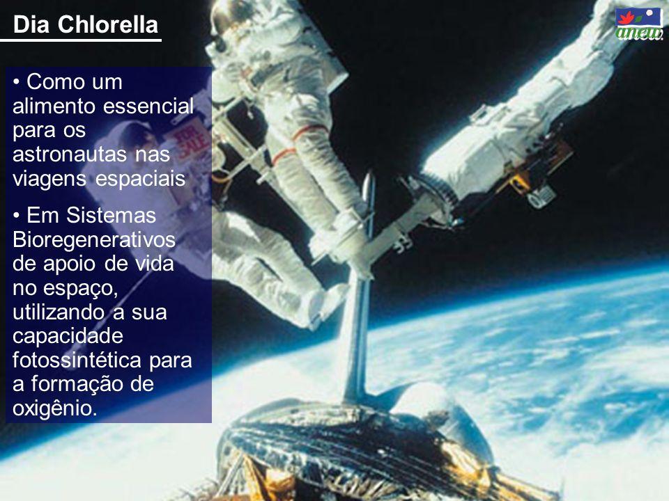 Dia Chlorella Como um alimento essencial para os astronautas nas viagens espaciais Em Sistemas Bioregenerativos de apoio de vida no espaço, utilizando