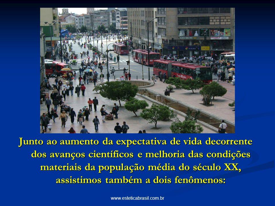 www.esteticabrasil.com.br Junto ao aumento da expectativa de vida decorrente dos avanços científicos e melhoria das condições materiais da população média do século XX, assistimos também a dois fenômenos: