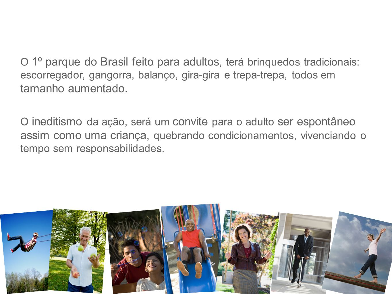 9 7637- Projeto Brinquedão - 28/07/10 O 1º parque do Brasil feito para adultos, terá brinquedos tradicionais: escorregador, gangorra, balanço, gira-gi