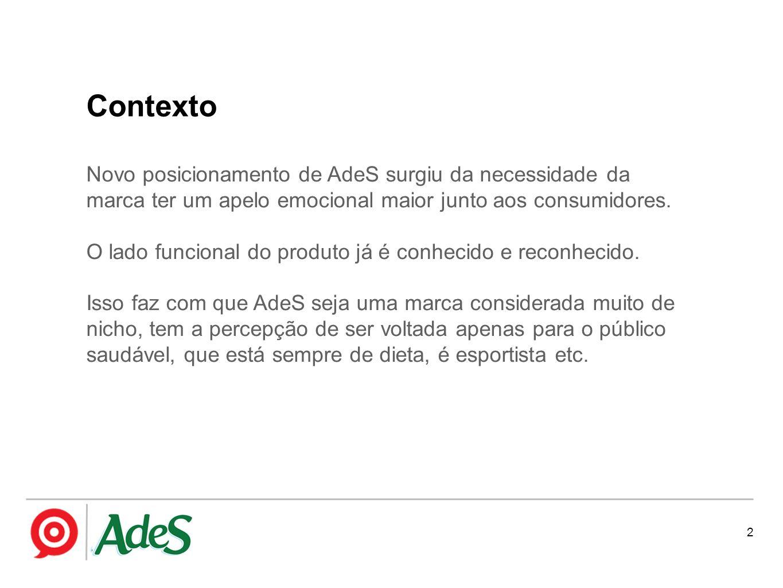 Novo posicionamento de AdeS surgiu da necessidade da marca ter um apelo emocional maior junto aos consumidores. O lado funcional do produto já é conhe