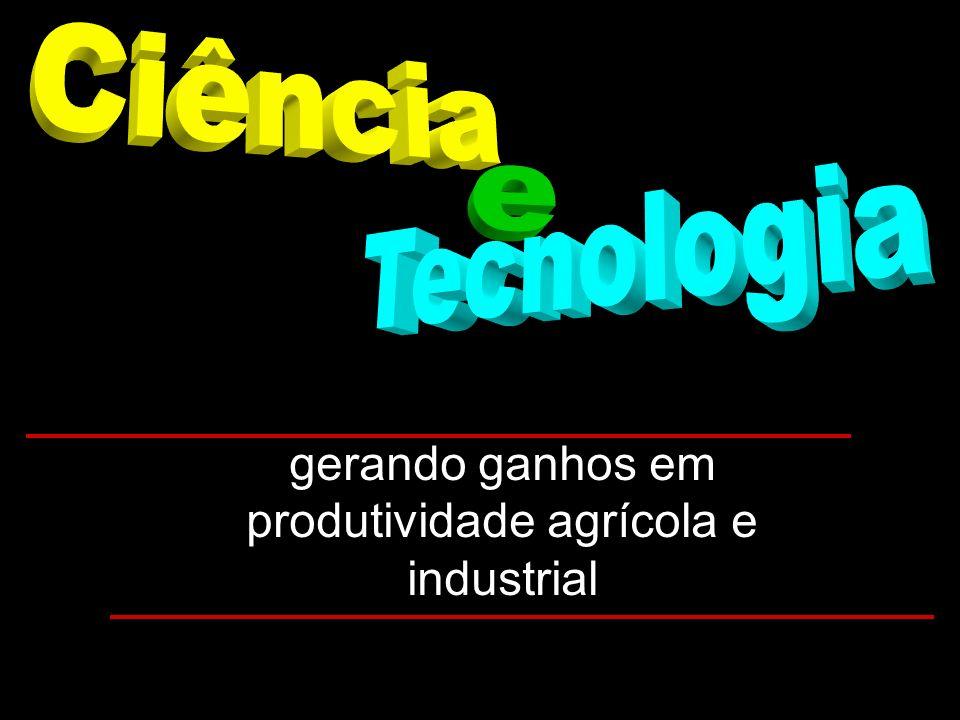 gerando ganhos em produtividade agrícola e industrial