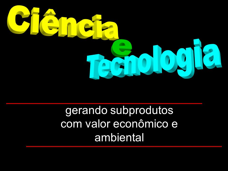 gerando subprodutos com valor econômico e ambiental