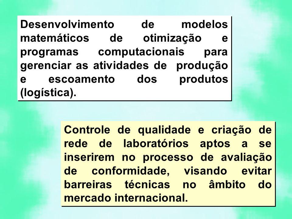 Desenvolvimento de modelos matemáticos de otimização e programas computacionais para gerenciar as atividades de produção e escoamento dos produtos (logística).