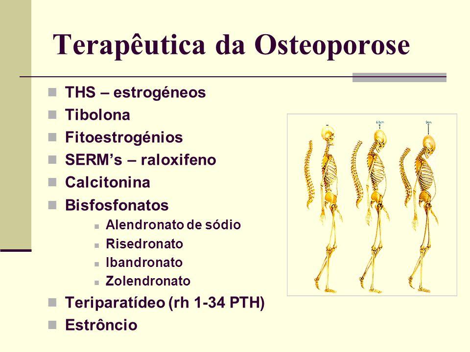Perfil do doenteT-score NOFAACE Sem factores risco< -2.0<-2.5 Com factores risco<-1.5 National Osteoporosis Foundation 1998. American Association of C