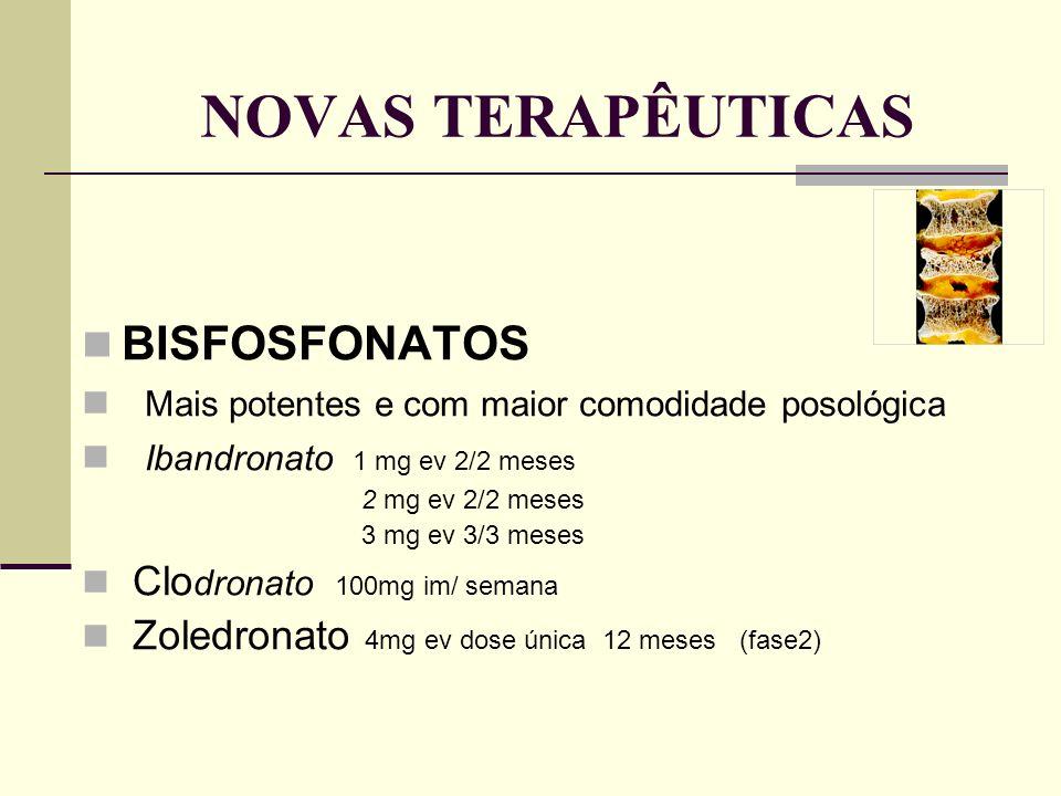 IBANDRONATO Estudo MOBILE (Monthly Oral iBandronate In LadiEs) 1609 mulheres menopausicas 2 anos Comparação da eficácia do regime diário (2,5mg) com o