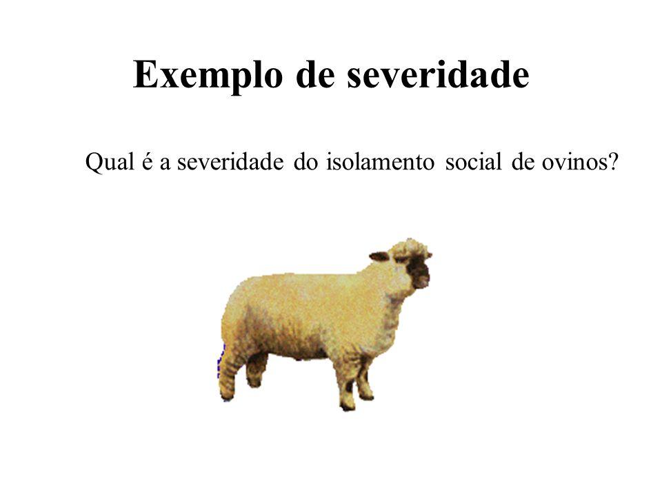 Exemplo de severidade Qual é a severidade do isolamento social de ovinos?