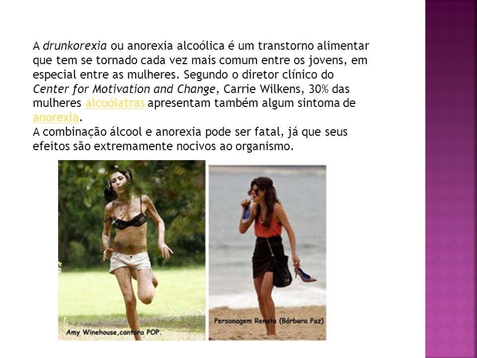 A drunkorexia ou anorexia alcoólica é um transtorno alimentar que tem se tornado cada vez mais comum entre os jovens, em especial entre as mulheres. S