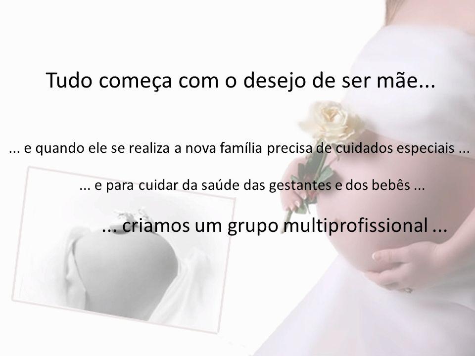 Tudo começa com o desejo de ser mãe......