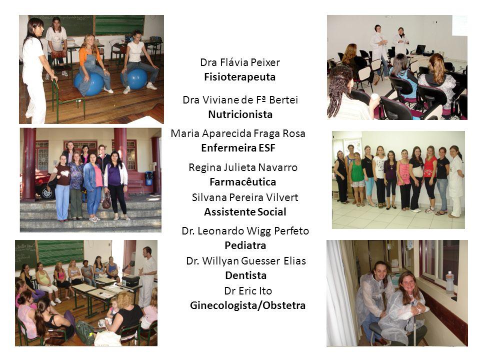 Dra Flávia Peixer Fisioterapeuta Dra Viviane de Fª Bertei Nutricionista Dr.