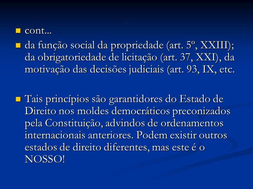 cont...cont... da função social da propriedade (art.
