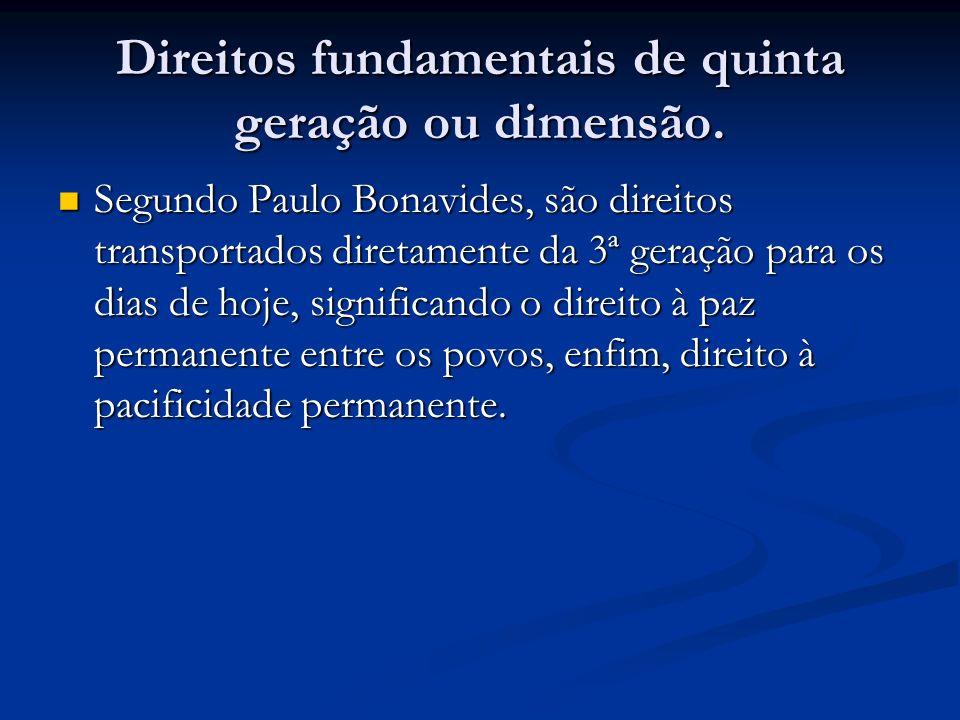 Direitos fundamentais de quinta geração ou dimensão.