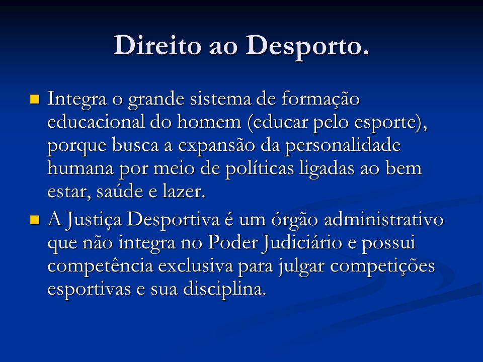 Direito ao Desporto.