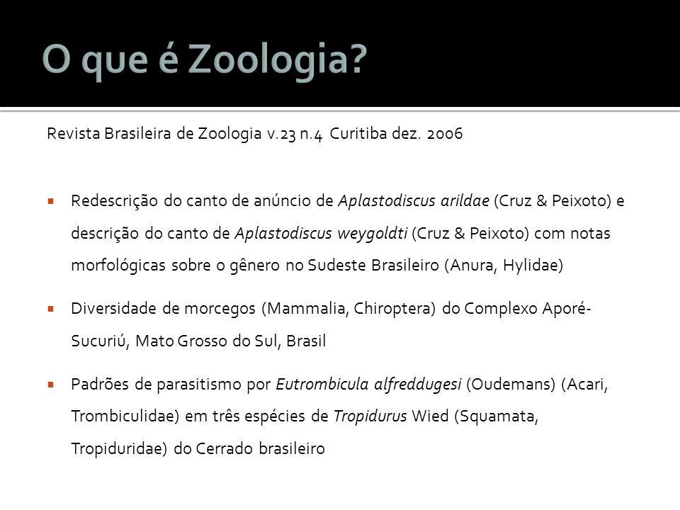 Revista Brasileira de Zoologia v.23 n.4 Curitiba dez.