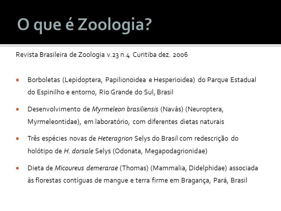 Revista Brasileira de Zoologia v.23 n.4 Curitiba dez. 2006 Borboletas (Lepidoptera, Papilionoidea e Hesperioidea) do Parque Estadual do Espinilho e en