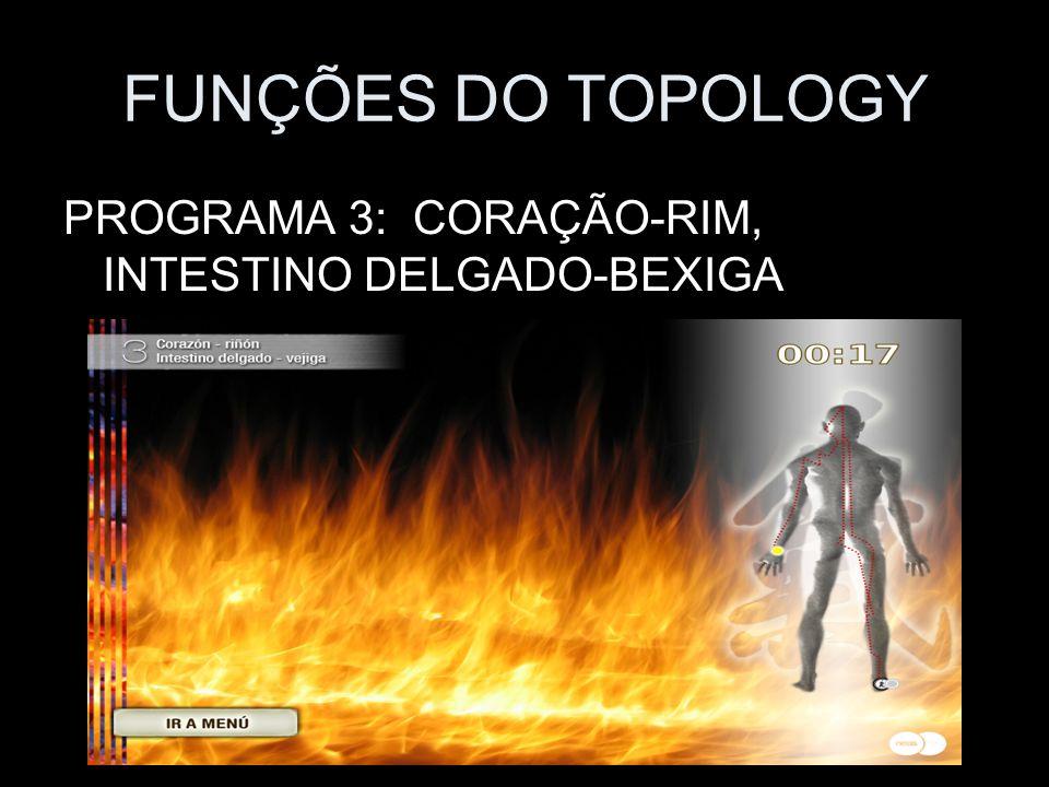 FUNÇÕES DO TOPOLOGY PROGRAMA 3: CORAÇÃO-RIM, INTESTINO DELGADO-BEXIGA